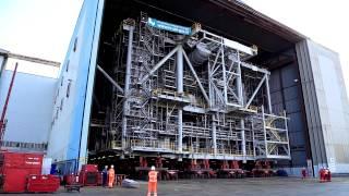 Alba B3 topside - Site move at Heerema Zwijndrecht yard