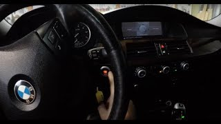 SUPER EASY !!! BMW E60 5 Series How To Check Engine Oil Level  !!!