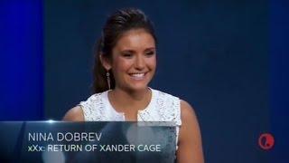 LEGENDADO: Nina Dobrev é apresentada em programa como atriz de 'xXx: Return Of Xander Cage'