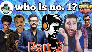 Top 10 Gamers in India 2019   Carryminati, dynamo gaming, beastboy Shub, kronten, ron   Noob Tuber