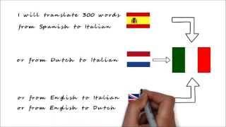 Work Sample: Translate English/Spanish/Dutch to Italian Gig