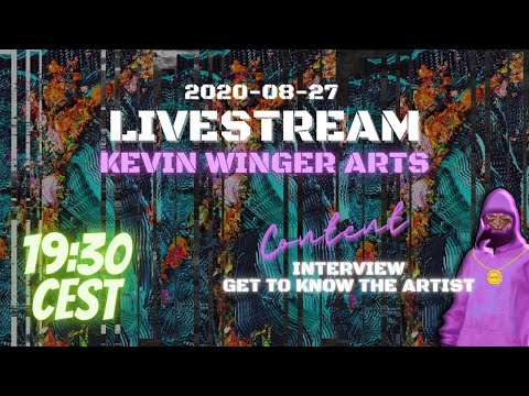 Interview with Kevin Winger ARTS | NFT Oil paintings | ANYOEX Livestream