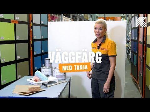 Väggfärg med Tanja