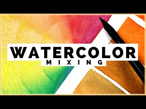 How to Mix Watercolors Like a PRO! Color Mixing with Watercolors