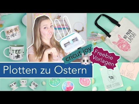 5 DIYs: Plotten für Ostern mit dem Cricut Joy   KOSTENLOSE VORLAGEN!