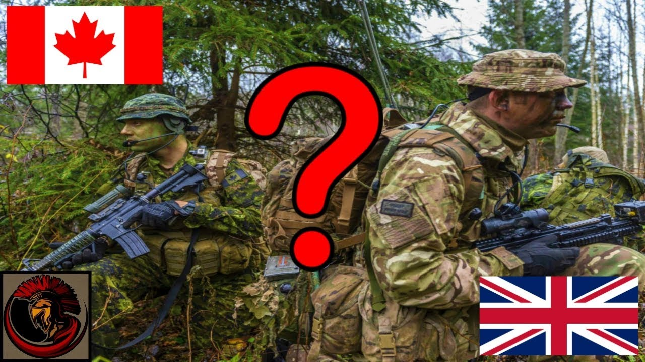 Differences between the British Army and the Canadian Army