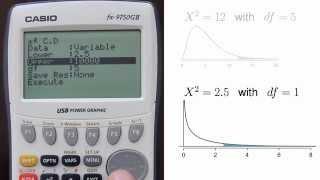 Casio fx-9750GII - Calculating Chi Square Upper Tail Area