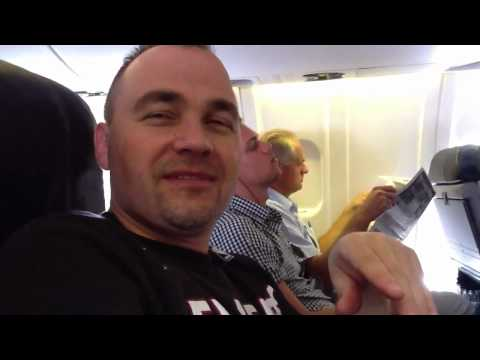 South Africa Trip – Peter & Jenny on plane