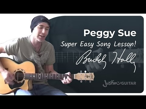 peggy-sue-buddy-holly-songs-guitar-lesson-st-516-how-to-play-justinguitar-songs
