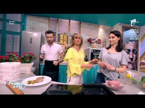 """Andreea Moldovan gătește """"Cotlet de porc cu cartof dulce și Zucchini"""""""