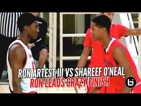 Ron Artest III vs Shareef O'Neal Part 2 Gets Upstaged By Game Winning 3 Pointer!! FULL Highlights