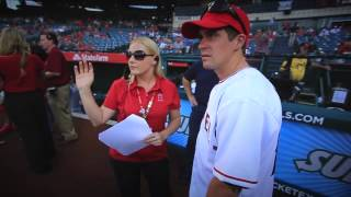 Supercross LIVE! 2013 - Wil Hahn Throws First Pitch at Angels Game