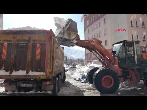 Bitlis'te 6 bin kamyon kar, kent dışına çıkarıldı