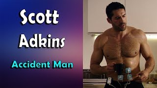 Scott Adkins and his hairy chest (Accident Man)