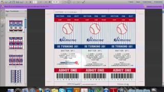 baseball ticket invitation youtube