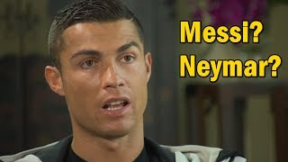 Olha aí o que o Cristiano Ronaldo falou sobre a sua disputa com Messi e Neymar!