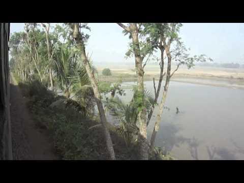 Bangladesh Railway Rajbari Shuttle Train running place video.MP4