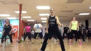 "Zumba with Rachel Pergl ""Painkiller"" Jason Derulo feat Meghan Trainor"