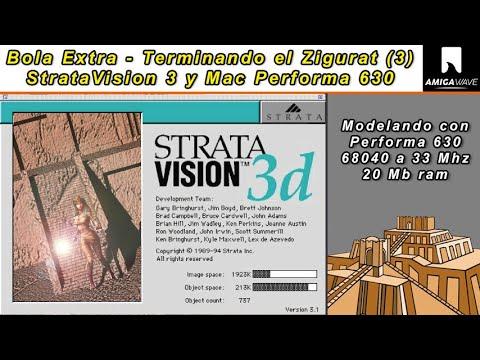 Bola Extra - Modelando un Zigurat ( parte 3 ) StrataVision 3D y Mac 68k.