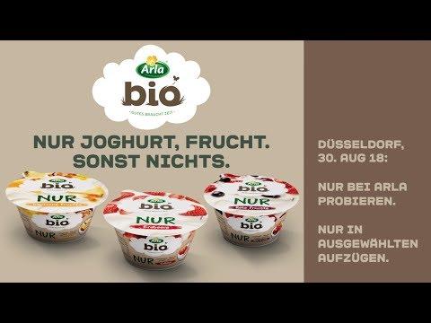 Arla BIO |NUR Jogurt, Frucht. Sonst nichts. – in ausgewählten Aufzügen