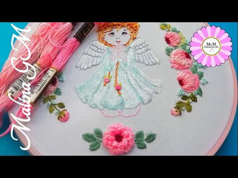 Embroidery: Peony flower | new design for flowers | easy stitch
