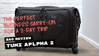 Review: TUMI Alpha 2 Carry-On Garment Bag on 4 Wheels