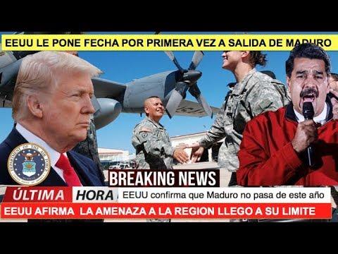 EEUU le pone fecha a la intervencion a Maduro