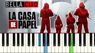 💎💎💎La Casa de Papel - Bella Ciao (Piano tutorial)💎💎💎