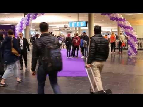 Åpning av ankomsthall for innlandspassasjerer