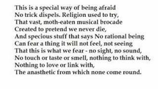 """Aubade"" by Philip Larkin (read by Tom O'Bedlam)"