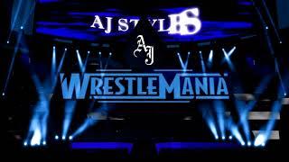 WWE WRESTLEMANIA 34 SHINSUKE NAKAMURA VS AJ STYLES entrance
