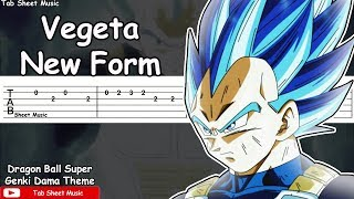 Dragon Ball Super - Vegeta New Form (Genki Dama Theme) Guitar Tutorial