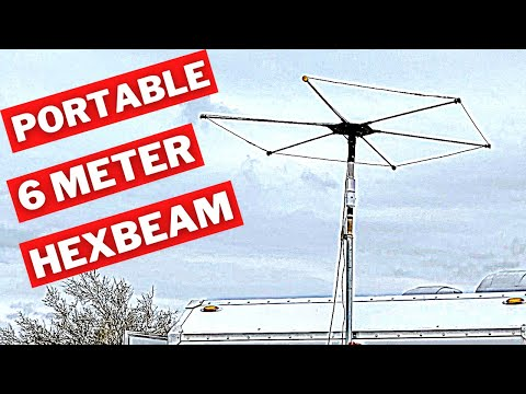 How to make a portable 6 Meter Hexbeam!
