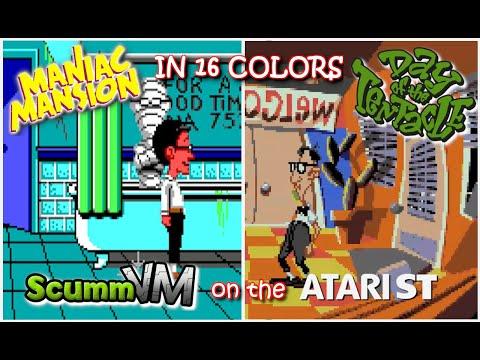 Thumbnail of the video The history of SCUMM, SCUMMVM (on the Atari ST) (Monkey Island 2, Fate of Atlantis, DOTT)