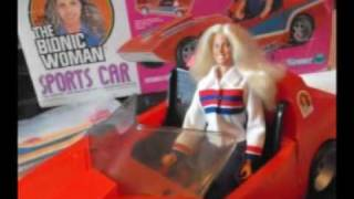 The Bionic Woman  - Sports Car & Carriage House - rare Toys 1977