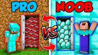 Minecraft NOOB vs. PRO : SWAPPED DOOR BATTLE in Minecraft (Animation)