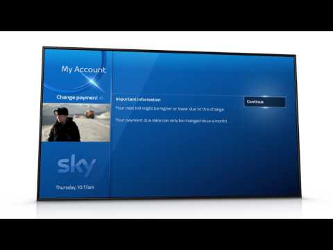 Changing your payment date on Sky Q - Sky Help