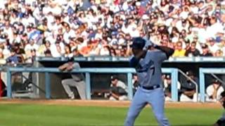 Kemp gets thrown out by Yankees Nick Swisher 6/26/10
