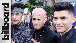 CNCO Chats Up New Song with Meghan Trainor & Sean Paul | Latin AMAs 2018