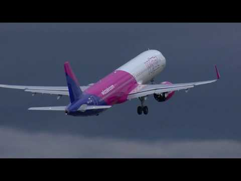 London Luton Airport welcomes Wizz Air's first Airbus A321 NEO