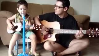 Amor pra Recomeçar - Frejat, por Diogo Mello (3 anos e 7 meses)