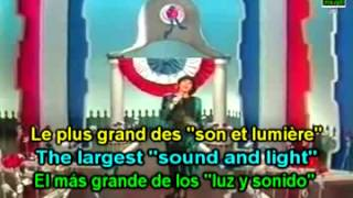 Learn French with Mireille Mathieu, Made in France; translated subtitles lyrics paroles letras