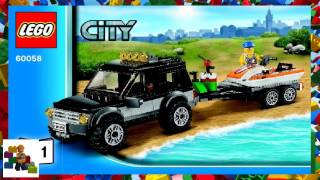 LEGO instructions - City - Traffic - 60058 - SUV with Watercraft (Book 1)