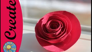 Fun Flower Craft Activity: a paper rose