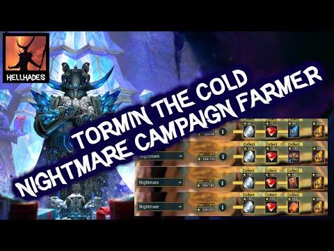 RAID: Shadow Legends | Tormin the Nightmare Campaign farmer??