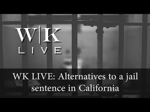 Can I avoid jail time with alternative sentencing in California?