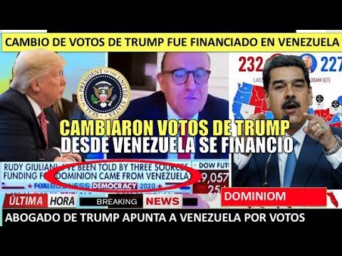 Cambio de votos de Trump fueron financiados desde Venezuela