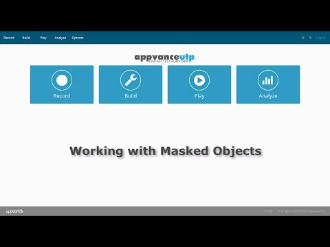 Working with Masked Objects in Appvance UTP
