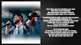 Jorge & Mateus - Terra Sem CEP (LETRA) & (SEGMENTO DE FRASE)