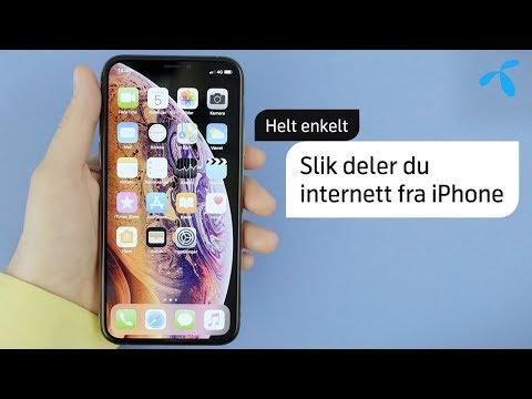 Helt enkelt: Slik deler du internett fra iPhone | Telenor Norge